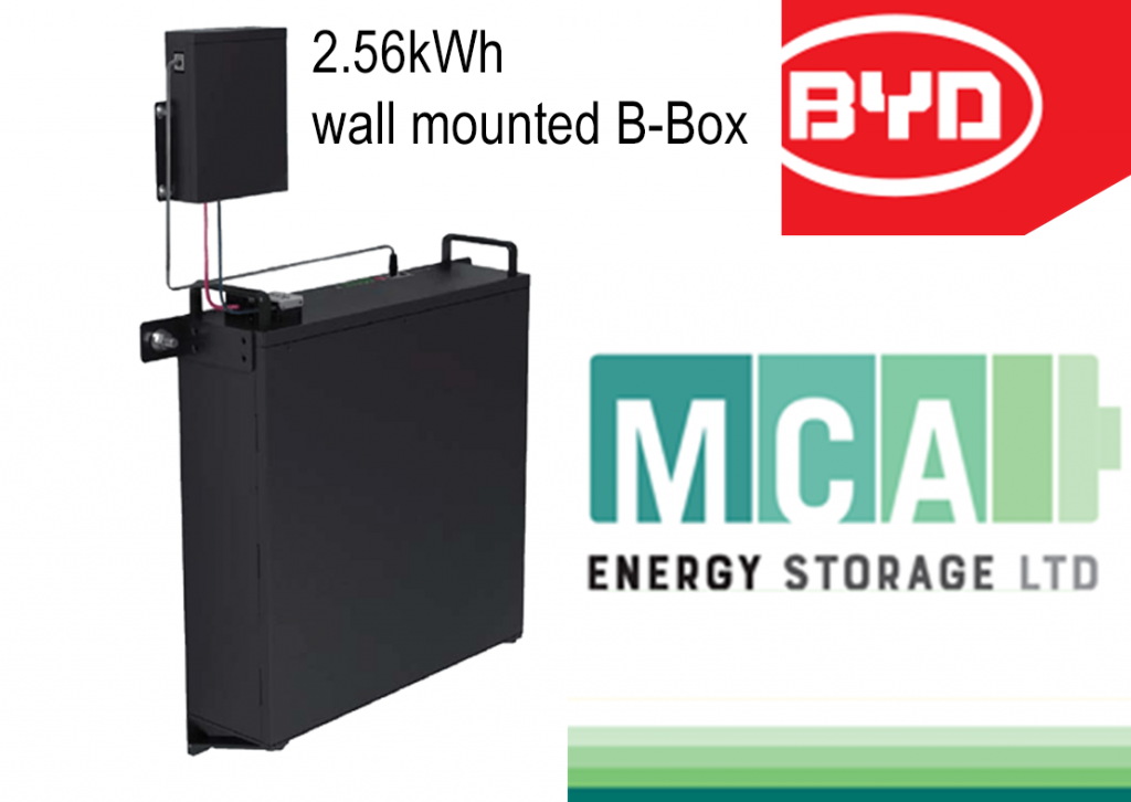 Image showing wall mounted 2.56kwh B-Box battery suitable for domestic energy storage